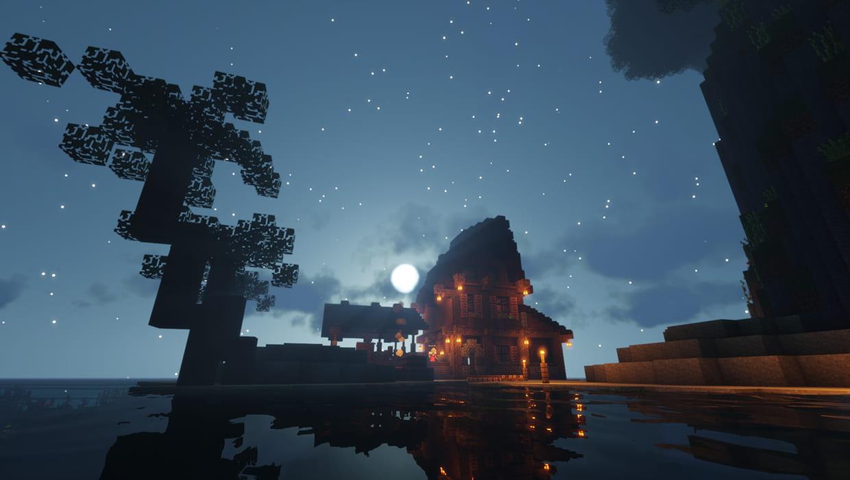 minecraft cielo nocturno servidor pescadería 1.16.4